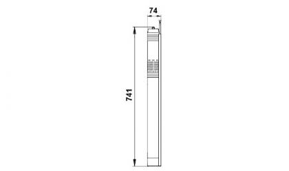 Porakaivopumppu Grundfos SQE 2-55, 10 m kaapelilla