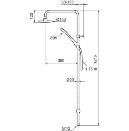 Mora Cera Shower System S5 ylä- ja käsisuihkusetti