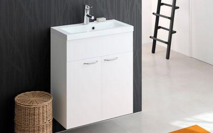 Otsoson kylpyhuoneryhmä Miniclever 600 valkoinen sileä