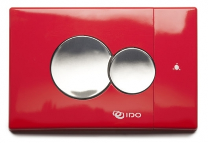 IDO Seinä-wc:n painonappi kiiltävä punainen