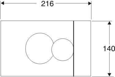 IDO Seinä-wc:n painonappi kiiltävä valkoinen, mitat