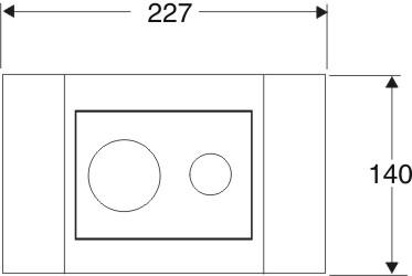 IDO Seinä-wc:n painonappi pieni valkoinen