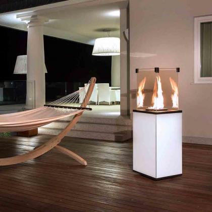 Terrace heater Kratki Patio Mini white with remote control