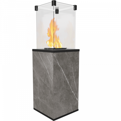 Gas heater PATIO sintered quartz NATURALI PIETRA GREY