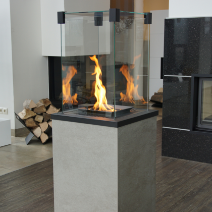 Gas heater PATIO sintered quartz Oxide Grigio