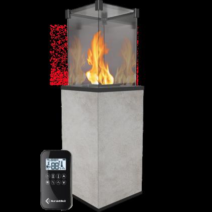 Gas heater Patio or Patio Mini, sintered quartz Oxide Grigio with remote control
