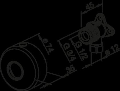 PINTA-ASENNUSKULMAPARI ORAS 12 MM SULUIN 204021Z/2