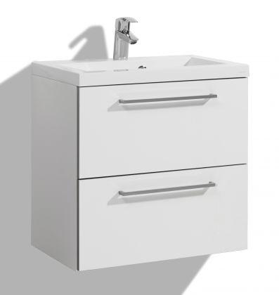 Allaskaappi altaalla 600 mm Stella Premium, 2 laatikkoa, valkoinen