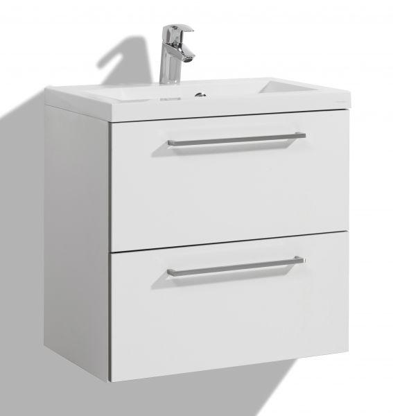Allaskaappi altaalla 600 mm Stella Premium, kaksi laatikkoa, valkoinen
