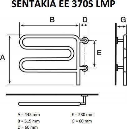 Sentakia pyyhekuivain EE 370S LMP, kromi