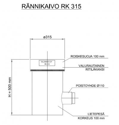 Rännikaivo Talokaivo 315/110VR