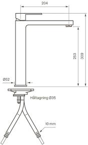 Pesuallashana Tapwell RIN081 korkea kupari