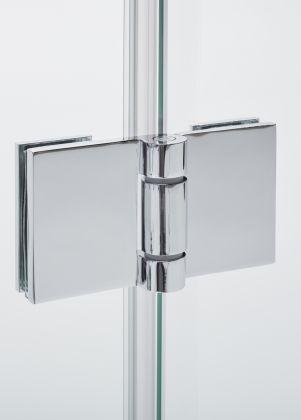 Suihkukulma Tammiholma 90 x 90 cm, TKS900, taittuva, kääntyvä, kirkas