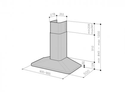 Liesikupu Savo CH-5206-B 60 cm, mattamusta