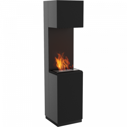 Biofireplace Kratki Sierra black, freestanding