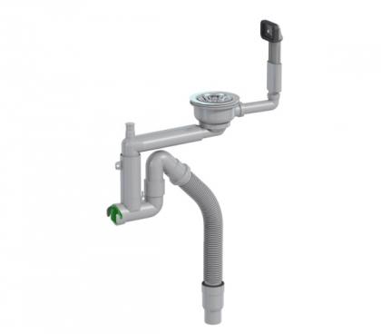 Keittiövesilukko Prevex Smartlock 1-altainen 114mm koripohjaventtiilillä