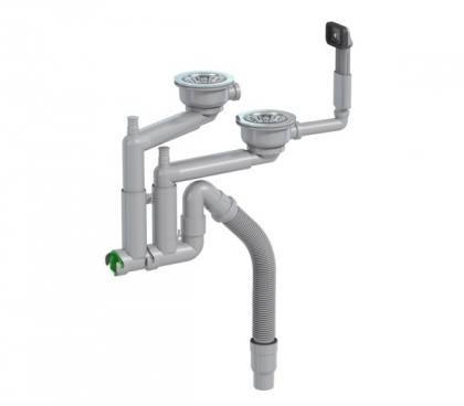 Keittiövesilukko Prevex Smartlock 2-altainen 114mm koripohjaventtiilillä