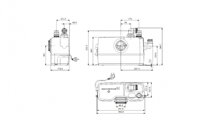 Grundfos Sololift2 WC-1 pienjätevesipumppaamo