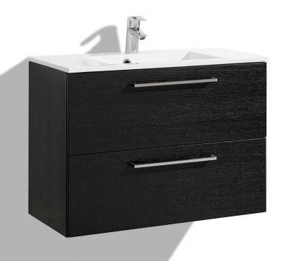 Allaskaappi altaalla 1000 mm Stella Premium 2 laatikolla, musta viilu