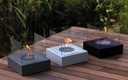 Biofireplace Tango 3-large Black, tabletop