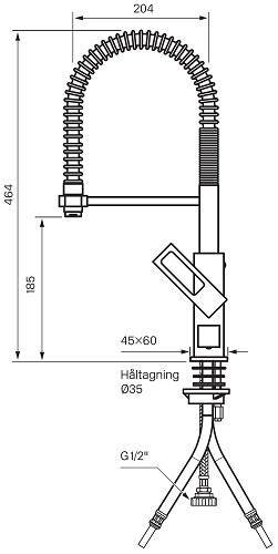 Keittiöhana Tapwell EF186 PKV Kromi