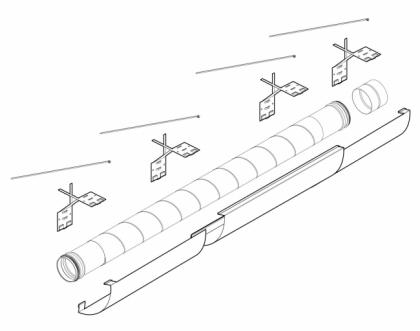 Teleskooppinen putkisarja Pax Ventilation system kit