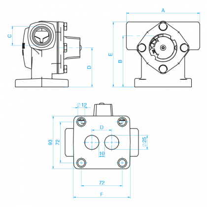 Termomix A 25 S 4-tie sek.venttiili