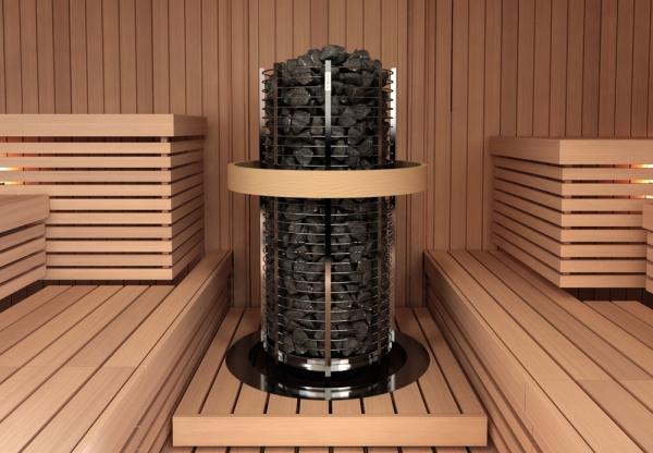 Integrointikaulus Sawo Tower Round TH2/TH3 -kiukaille, teräs