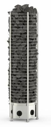 Sähkökiuas Tower Round 9kW, kiinteä ohjaus