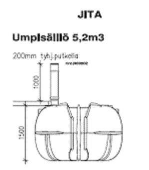 Jita Umpisäiliö 10400 L langattomalla hälyttimellä