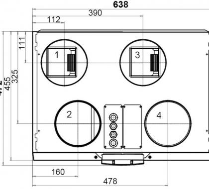 LTO-laite/Iilmanvaihtokone 110 MV R