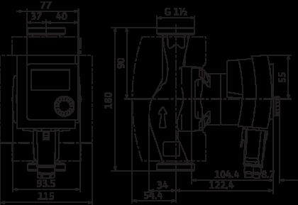 Lämppöjohtopumppu WILO Stratos Pico 25 1-6 180 mm 4216613