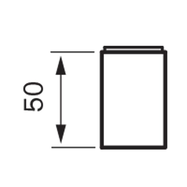 Korotusosa 50mm Tapwell XPRO 300 eri värisenä
